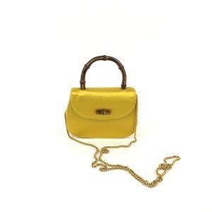 Gucci Vintage Bamboo Handbag